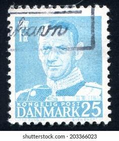 DENMARK - CIRCA 1948: stamp printed by Denmark, shows Frederik IX, circa 1948