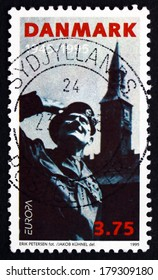 DENMARK - CIRCA 1995: a stamp printed in the Denmark shows General Montgomery, Town Hall Square, Liberation of Denmark, 50th Anniversary, circa 1995