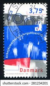 DENMARK - CIRCA 1996: stamp printed by Denmark, shows Danish Employers Confederation, circa 1996