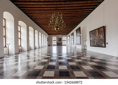 Denmark, NOV 1: Interior view of the famous Kronborg Castle on NOV 1, 2015 at Denmark
