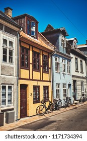 Denmark, Odense - June 30, 2018: Beautiful Streets of the Old City