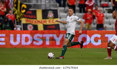 Denmark v Wales, Uefa Nations League, Ceres Park, Aarhus, 9/9/18: Aston Villa FC and Wales defender James Chester
