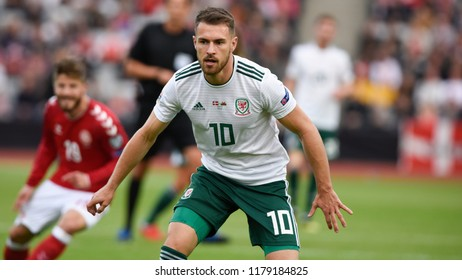 Denmark v Wales, Uefa Nations League, Ceres Park, Aarhus, 9/9/18: Welsh playmaker, Aaron Ramsey