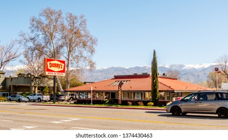 Dennys restaurant in the town of Bishop - BISHOP, UNITED STATES OF AMERICA - MARCH 29, 2019