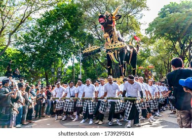 Denpasar / Indonesia - June 11, 2011: Ogoh-ogoh parade at the annual Bali Arts Week event which can be watched free of charge for everyone