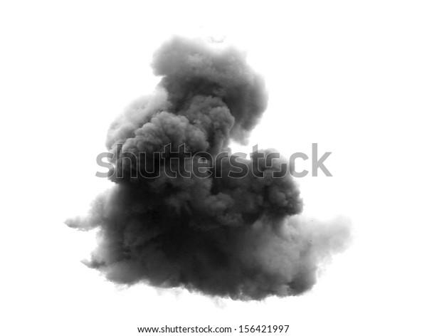 dense black cloud with a blanket of smoke