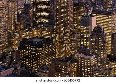 Dense buildings at New York, USA