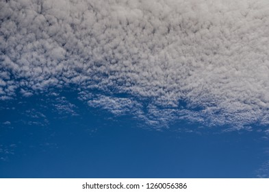 Dense little clouds in the sky in summer