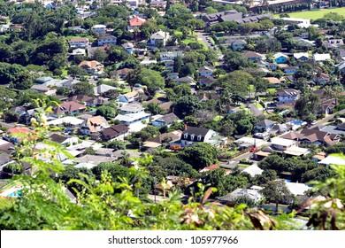Dense residential area