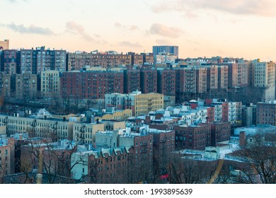 Dense residential district between Inwood and Harlem River, Upper Manhattan, New York