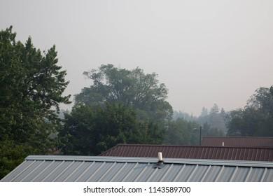 Dense smoke in downtown Durango, Colorado from the 416 fire