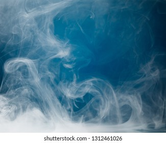 dense smoke on blue background