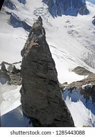 Dent du Gèant. Aerial View from glider. Italian Alps