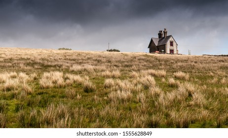 Dent, England, UK - May 24, 2011: A victorian station house stands isolated on moors above Dent village on the Settle to Carlisle Railway line in England's Yorkshire Dales national park.