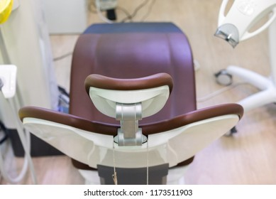 dental clinic interior with modern dentistry equipment