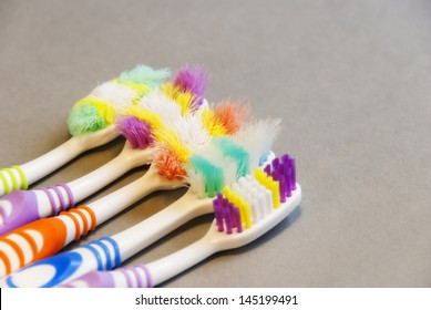 Dental Health - the importance of using a new toothbrush for effective everyday brushing vs old worn toothbrushes and their inefficiency.