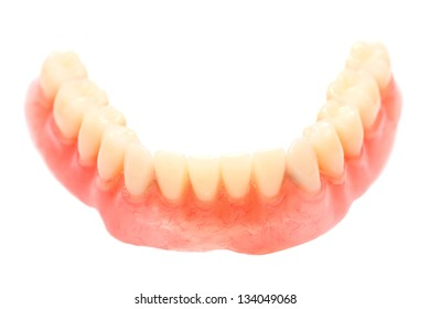 Dental prosthesis isolated in white background