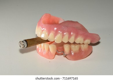 dental replacement with cigar