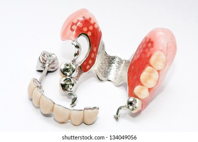 Dental skeletal prosthesis isolated in white background