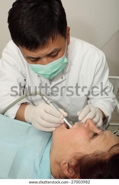 The dentist behind work