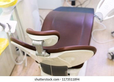 Dentist chair in modern clinic