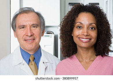 Dentist and dental nurse