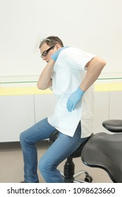 Dentist suffering from shoulder pain -occupational disease