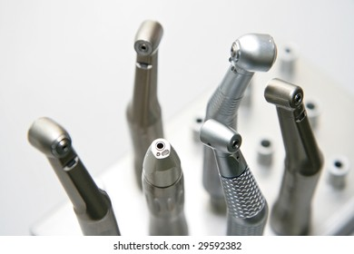 dentist tools isolated in white