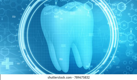 dentistry background image with futuristic interface and medical symbols