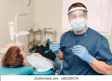 Dentistry. Dentist and patient. Dental clinic.