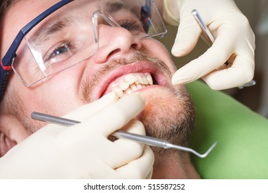 dentistry, patient examination and treatment at the dentist