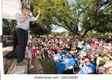 Denton, Texas / USA - 09-15-18 Democratic candidate for US Senate, Beto O'Rourke on the campaign trail. O'Rourke is poling within the margin of error against incumbent Senator Ted Cruz, Republican.