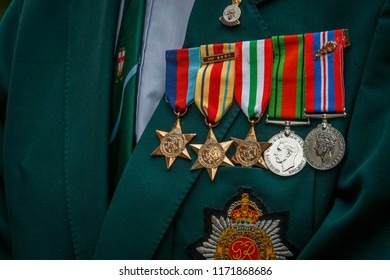 Denton, UK - June 24, 2017 - Armed Forces Day 'Honouring Britain's Armed Forces, past, present and future'