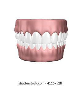 denture with clean tooth