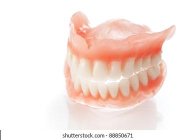 Denture, close up