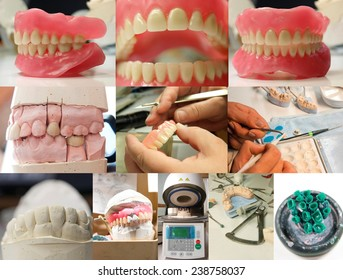 Denture collage / Dentist / Denture
