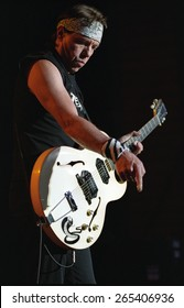 DENVER	   AUGUST 13:		George Thorogood performs August 13, 2002 at the Comfort Dental Amphitheater in Denver, CO.