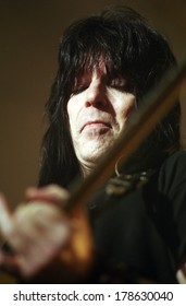 DENVER	DECEMBER 18:		Guitarist Mick Mars of the Heavy Metal band Motley Crue performs in concert December 18, 1998 at Mammoth Arena in Denver, CO.