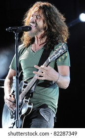 DENVER	JULY 18:		Vocalist/Guitarist Chris Cornell of the Heavy Metal band Soundgarden performs in concert July 18, 2011 at Red Rocks Amphitheater in Denver, CO.