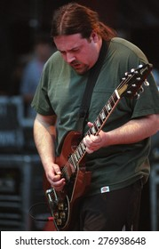 DENVER	MAY 11:		Tim Sult of Clutch performs May 11, 2001 at Red Rocks Amphitheater in Denver, CO.