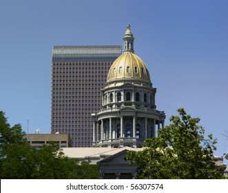 Denver Capitol dome from east side of building