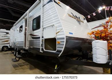 DENVER, CO - JAN 10, 2013: Annual  Colorado RV Adventure Travel Show.