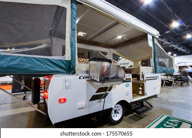 DENVER, CO - JAN 10, 2013: Annual  Colorado RV Adventure Travel Show.