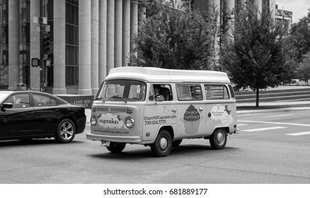 Denver, CO - July 20, 2017: vintage Volkswagen Transporter