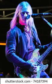 DENVER, CO - OCTOBER 4: Guitarist/Vocalist Jerry Cantrell of the Heavy Metal band Alice in Chains performs in concert on October 4, 2010 at Red Rocks Amphitheater in Denver, CO.