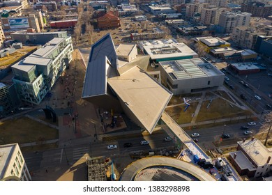 DENVER, CO, USA - MARCH 15, 2019: Frederic C. Hamilton Building Downtown Denver CO