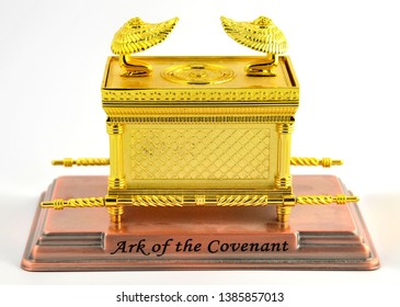 Denver, CO, USA, Oct 13. 2012. The Ark of the Covenant is a gold-covered wooden chest with lid cover described in the Book of Exodus as containing the two stone tablets of the Ten Commandments.