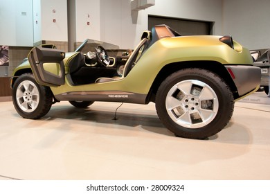 DENVER COLORADO â?? APRIL 5, 2009: The Jeep Renegade is featured at the Denver Auto Show in Denver Colorado on April 5, 2009