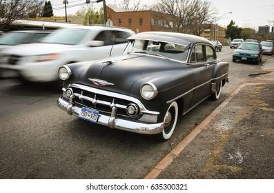 Denver, Colorado - April 7, 2017: vintage Chevrolet