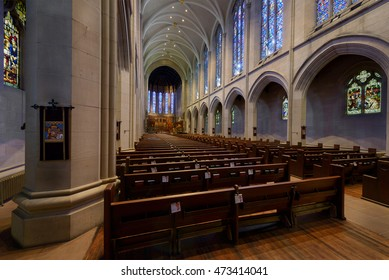 DENVER, COLORADO - JULY 18: Cathedral of Saint John in the Wilderness Episcopal Church on Washington Street on July 18, 2016 in Denver, Colorado